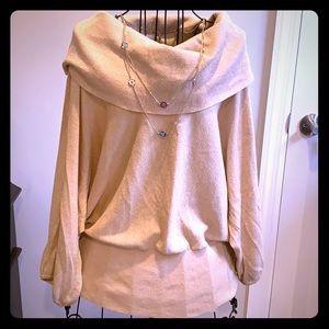 Shiny Gold Lightweight Sweater
